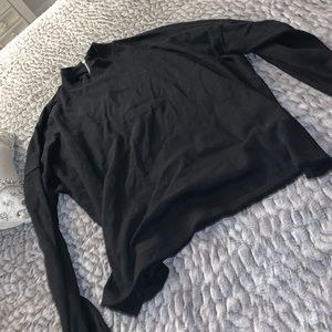 Black sweater with side slits